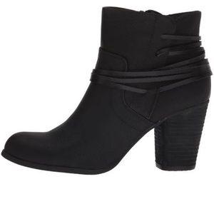 Madden Girl Black Denise Ankle Boots